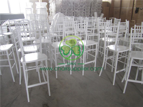white bar chiavari chair / bar stool