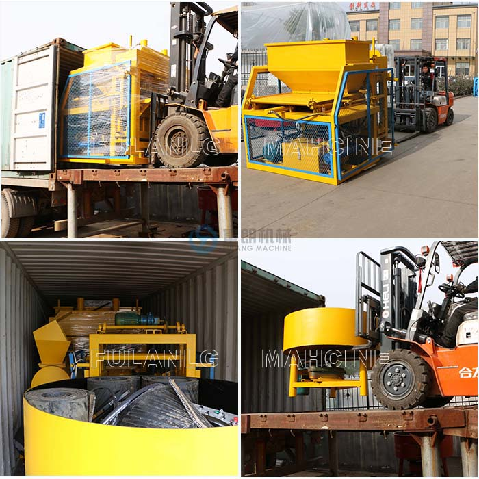 packing and delivery of FL7-10 auto brick machine