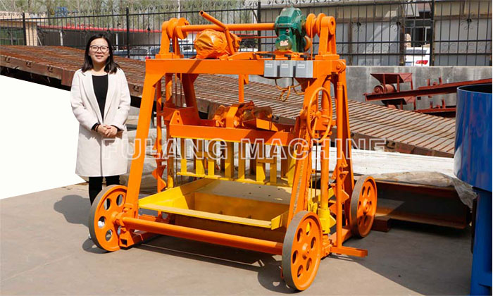 QTF40-3B small mobile block making machine