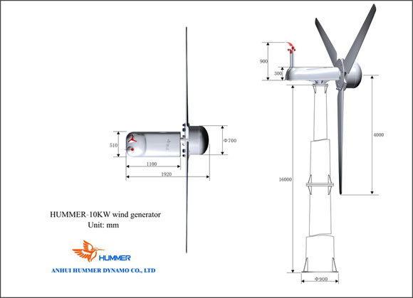 10KW Wind Turbine For HouseHold Structure