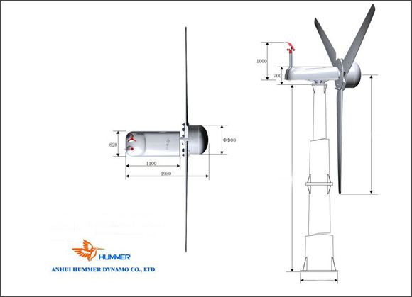 30KW Wind Turbine Structure