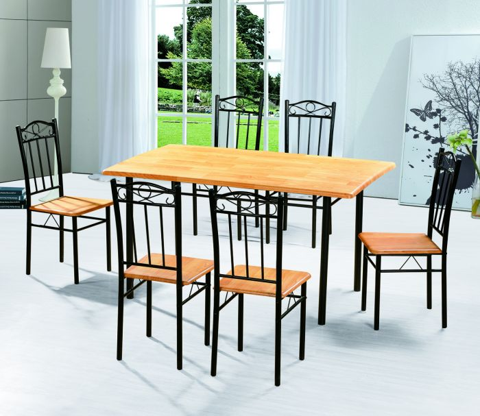 2013 low price mdf metal dining table set mdt14 fob 30 per unit