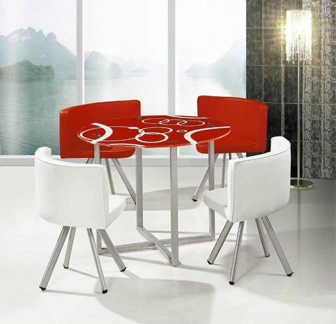 Dining Table Prices: Hot Sale Low Price Glass Dining Table Set