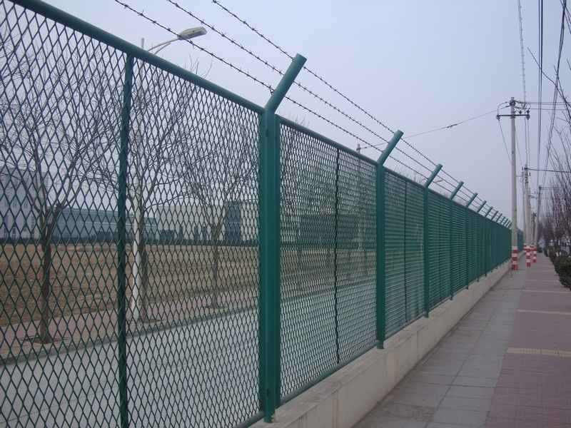 Pvc Coated Expanded Metal Mesh Fence Manufacturers Pvc