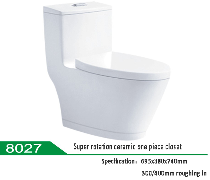 Super Rotation Type Ceramic One Piece Water Closet