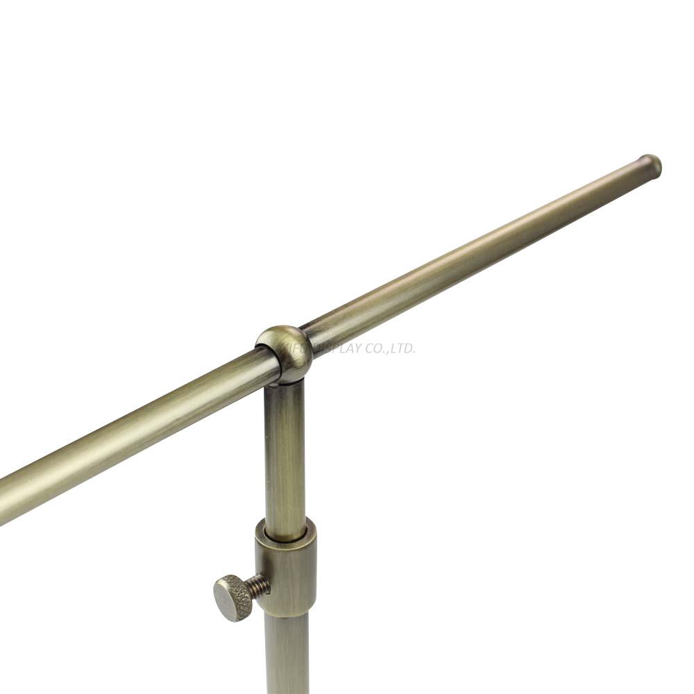 Wholesale Brushed Antique Brass T-bar Handbag Display Stand Rack