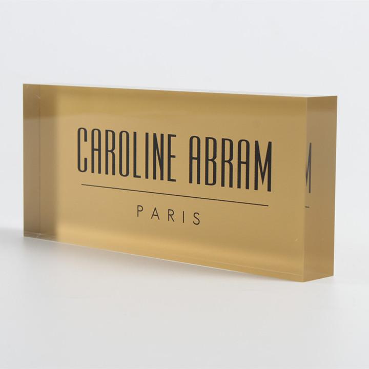 acrylic brand block