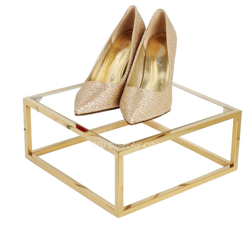metal shoe display