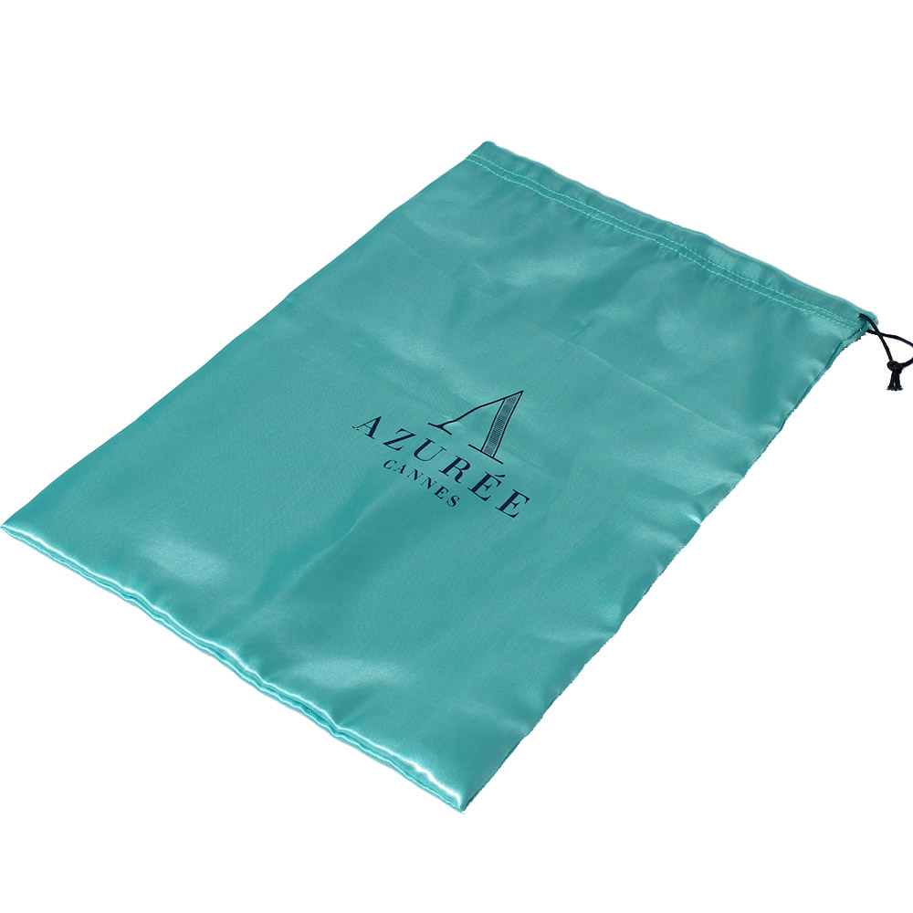 Satin bag with string