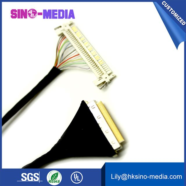 lvds cable, DF36-50P-0.4SD LVDS LCD Cable, DF36 series micro Coaxial cable, DF36-50P-0.4SD cable,IPEX lvds cable, micro Coaxial cable.