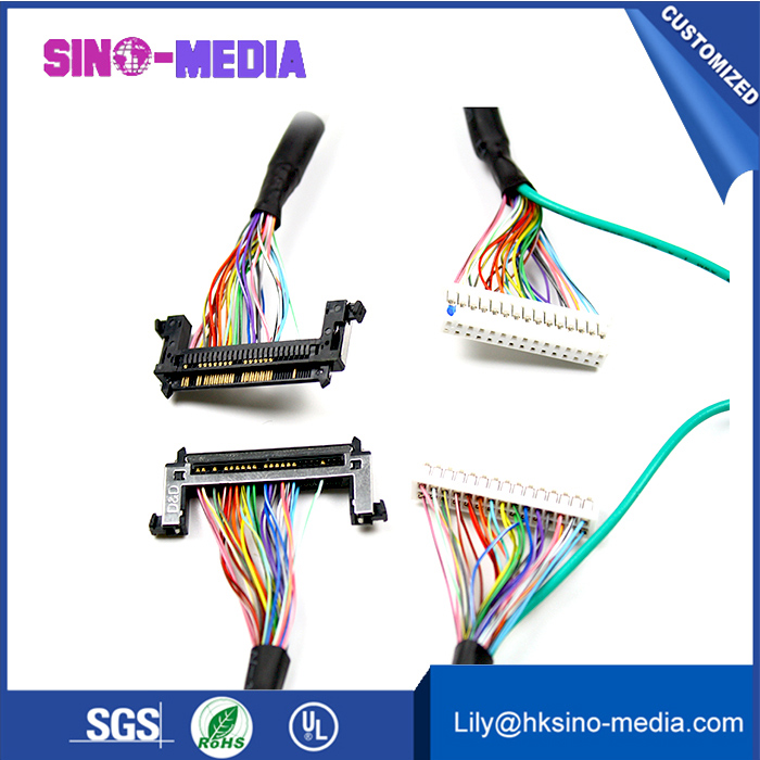 OEM/Customized IDC flat LCD/LVDS cable with JAE HD1S040HA1