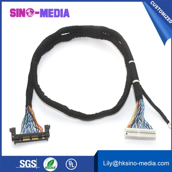 wire harness for LCD Monitor 41 pin lvds cable