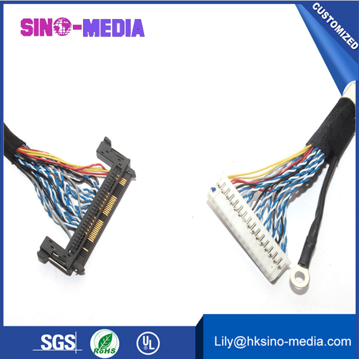 OEM/Customized LCD/LVDS cable with JAE HD1S040HA1