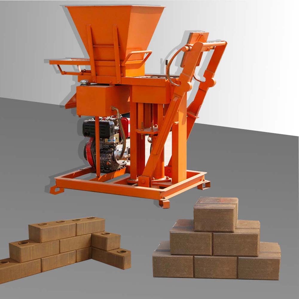 manual interlock brick machine
