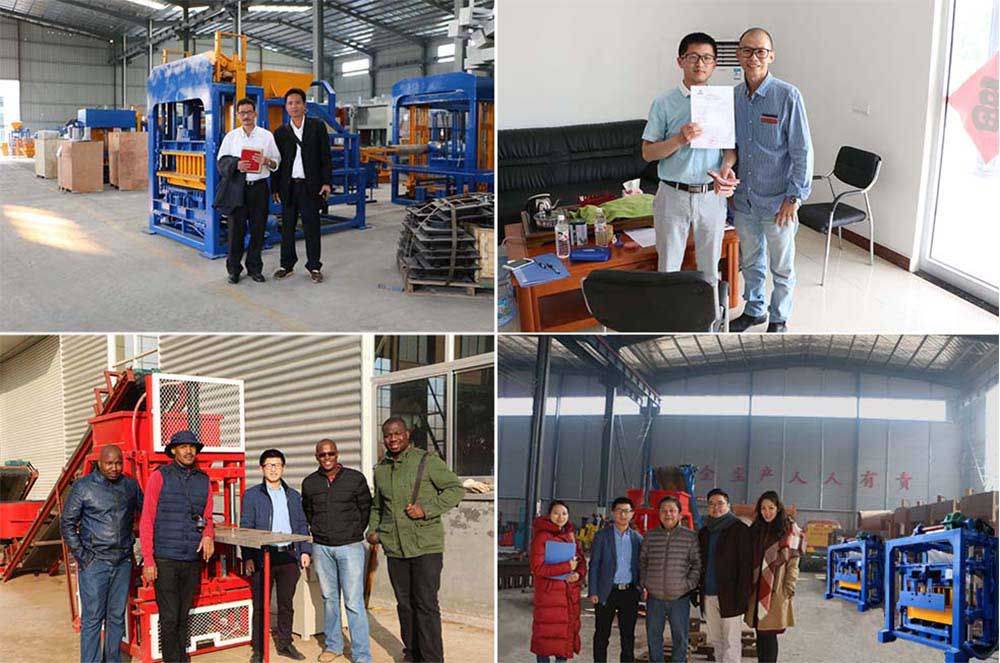our customer visiting our factory