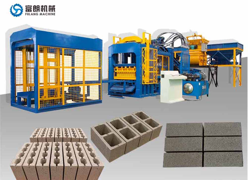 automatic brick block machine
