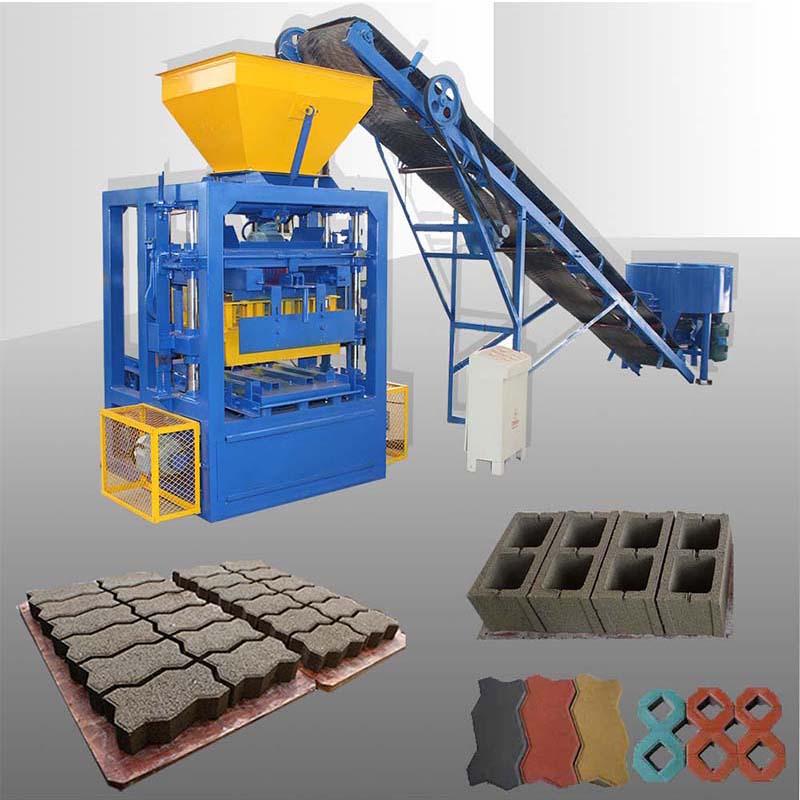 semi-automatic block machine production line