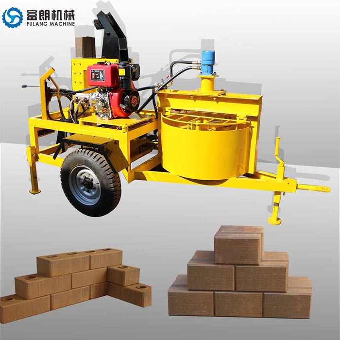 manual mobile clay brick machine