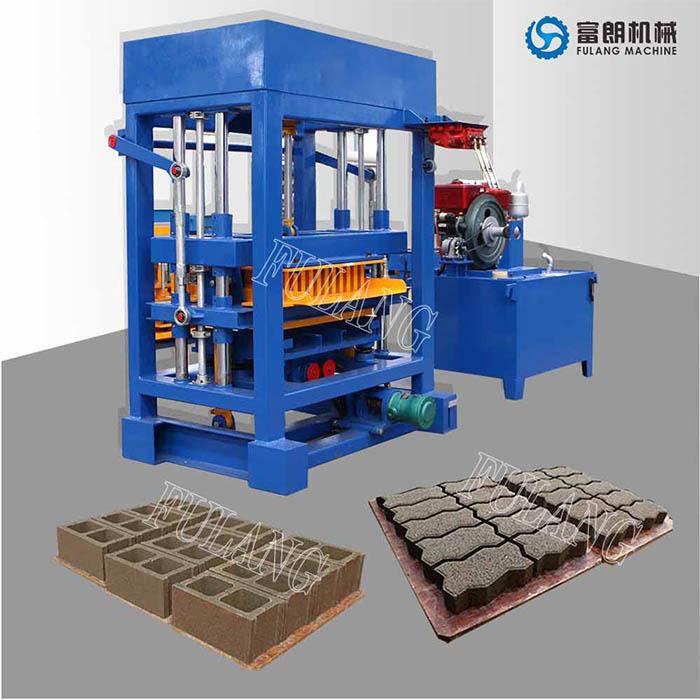 QTF4-28 manual concrete block machine