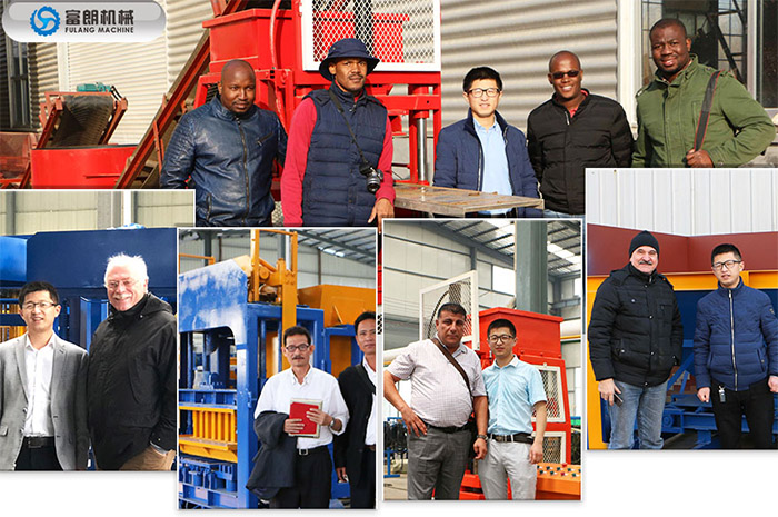 customer visiting of soil brick machine