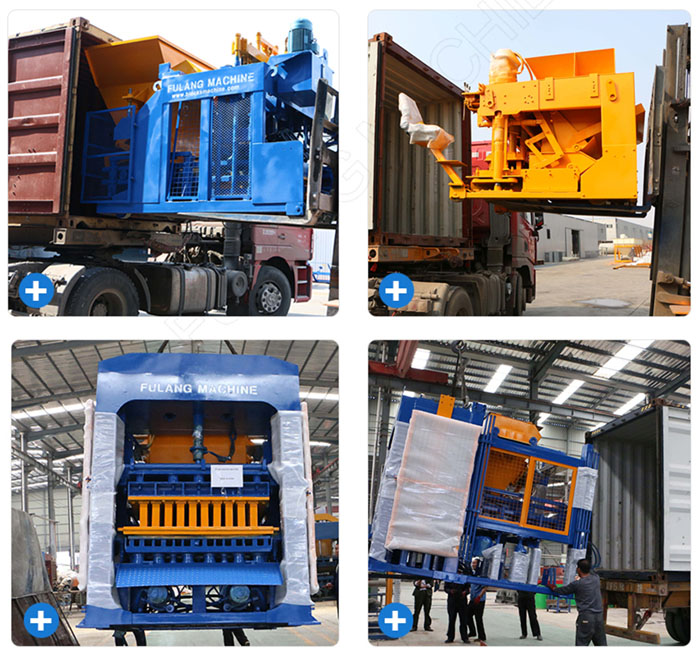 packaging of egg laying type concrete block machine