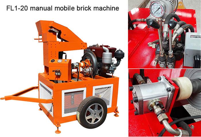 mobile interlocking block machine