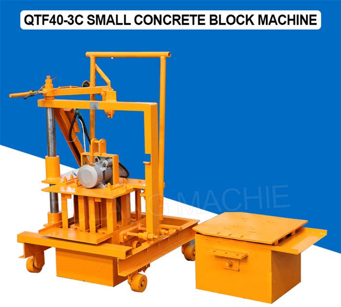Small manual block machine