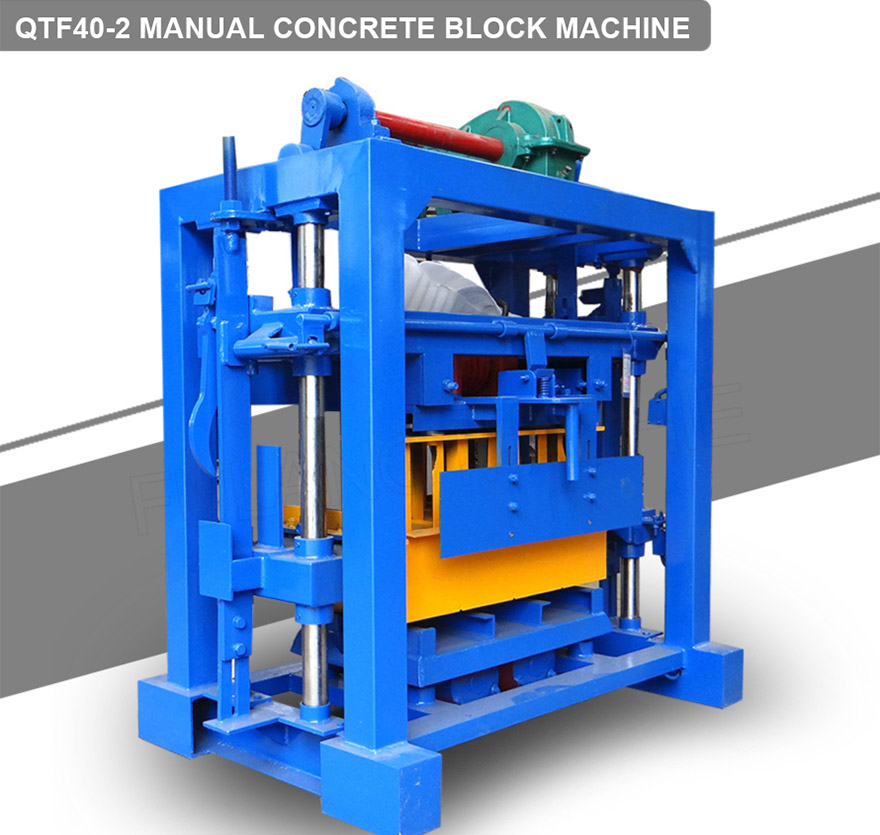 Manual hollow block machine