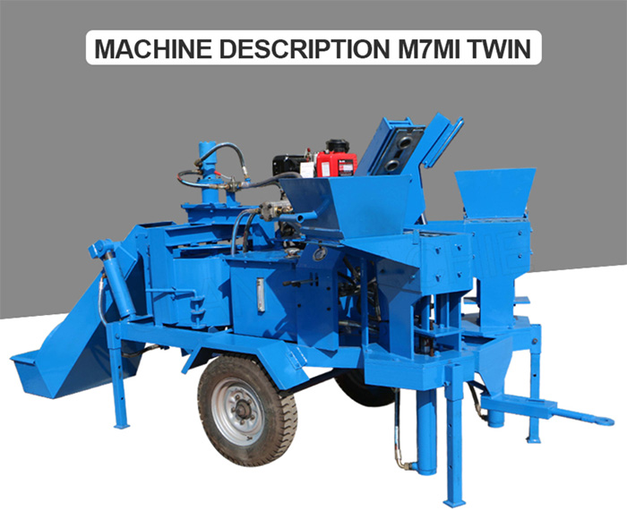 compressed interlocking brick machine