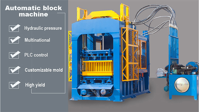 fully automatic concrete block making machine