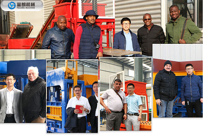 customer visiting of manual press brick machine