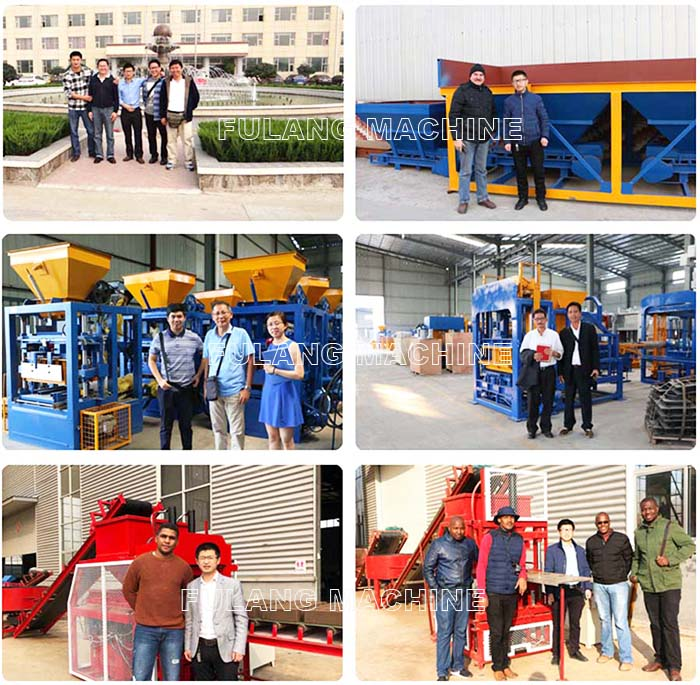 customers visiting our block machine factory