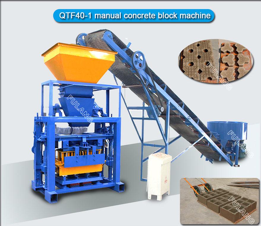 simple manual concrete block machine