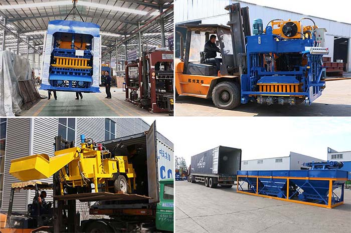 packing and delivery of different brick making machines