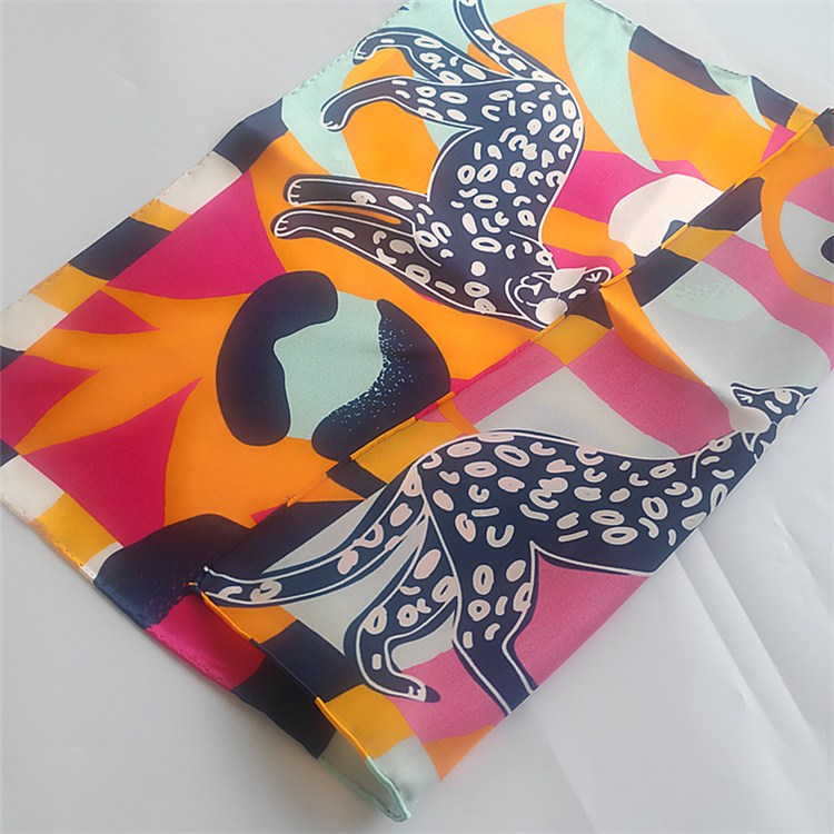 custom digital print silk scarf