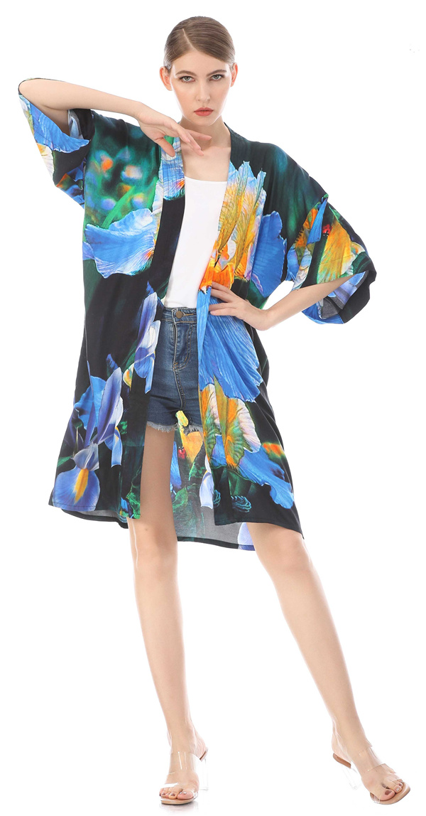 custom printed kimono cardigan