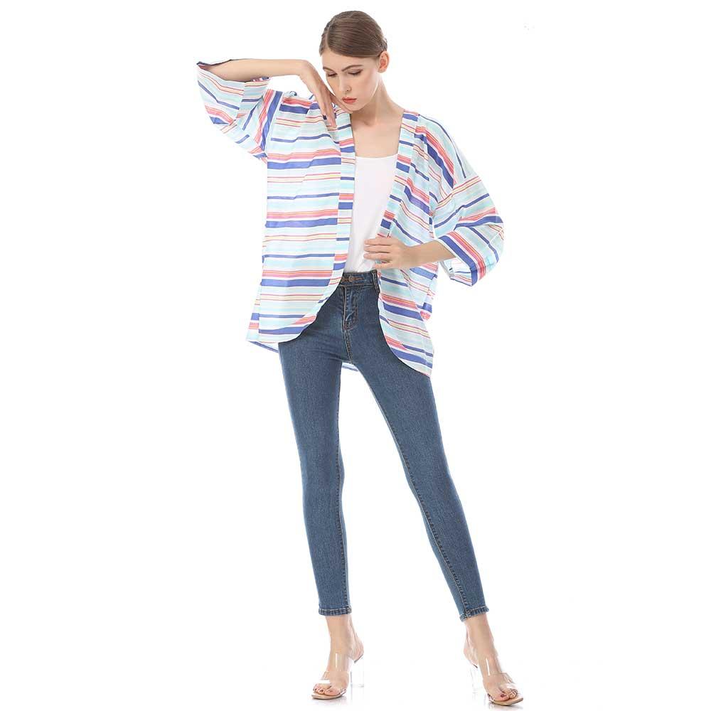 custom printed silk kimono